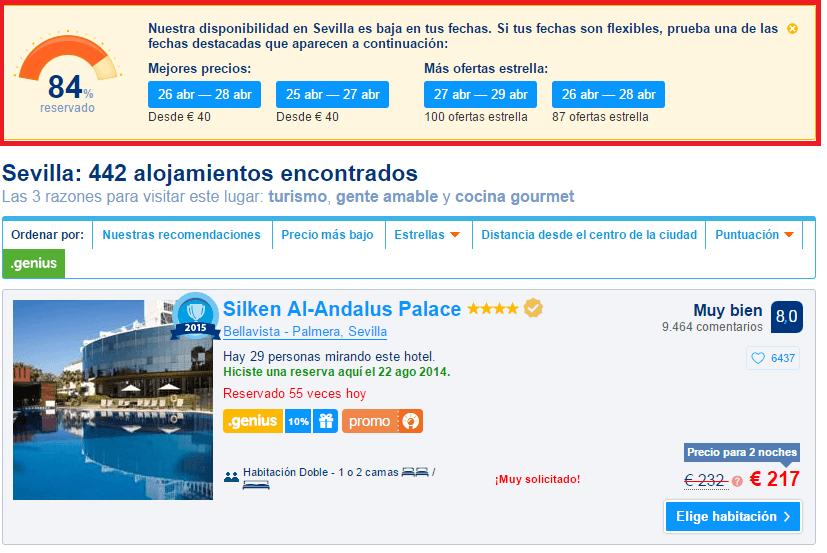 booking resultados de hoteles buscados- Los viajes de margalliver